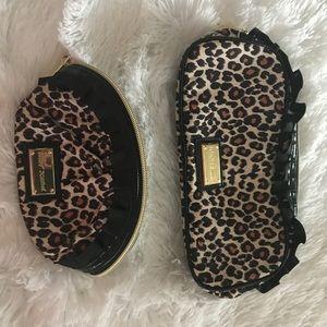 Betsey Johnson Clutch & Makeup Bag Leopard